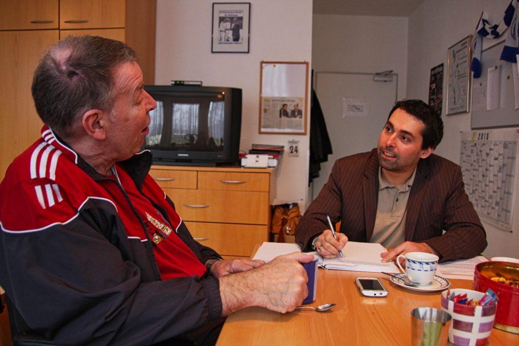 Interviewtermin in Saarbrücken: Ich besuchte Handballidol Joachim Deckarm - Foto: Nicole Rosche